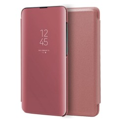Funda Flip Cover Clear View para Samsung Galaxy A51 color Rosa