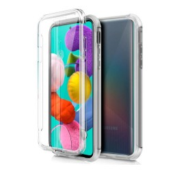 Funda Completa Transparente Pc + Tpu Full Body 360 para Samsung Galaxy A51