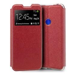Funda Libro Soporte con Ventana para Xiaomi Redmi Note 8T Color Roja