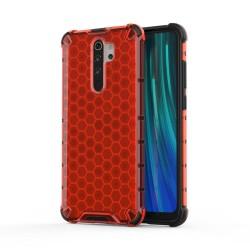 Funda Tipo Honeycomb Armor (Pc+Tpu) Roja para Xiaomi Redmi Note 8 Pro