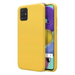 Funda Silicona Líquida Ultra Suave para Samsung Galaxy A51 color Amarilla
