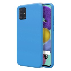 Funda Silicona Líquida Ultra Suave para Samsung Galaxy A51 color Azul