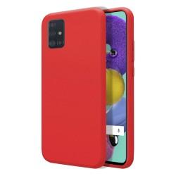 Funda Silicona Líquida Ultra Suave para Samsung Galaxy A51 color Roja