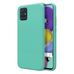 Funda Silicona Líquida Ultra Suave para Samsung Galaxy A51 color Verde