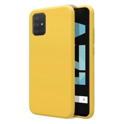 Funda Silicona Líquida Ultra Suave para Samsung Galaxy A71 color Amarilla