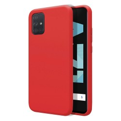 Funda Silicona Líquida Ultra Suave para Samsung Galaxy A71 color Roja