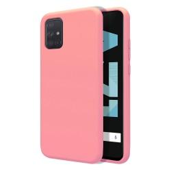 Funda Silicona Líquida Ultra Suave para Samsung Galaxy A71 color Rosa