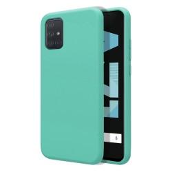 Funda Silicona Líquida Ultra Suave para Samsung Galaxy A71 color Verde