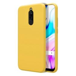 Funda Silicona Líquida Ultra Suave para Xiaomi Redmi 8 color Amarilla