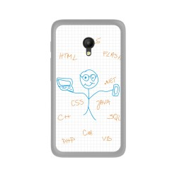 "Funda Gel Tpu para Orange Rise 51 / Alcatel Pixi 4 (5"") 4G / Vodafone Turbo 7 Diseño Informatico Dibujos"