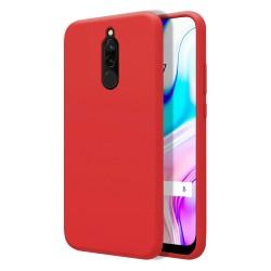 Funda Silicona Líquida Ultra Suave para Xiaomi Redmi 8 color Roja