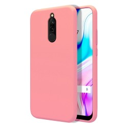 Funda Silicona Líquida Ultra Suave para Xiaomi Redmi 8 color Rosa