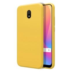 Funda Silicona Líquida Ultra Suave para Xiaomi Redmi 8A color Amarilla
