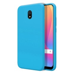 Funda Silicona Líquida Ultra Suave para Xiaomi Redmi 8A color Azul
