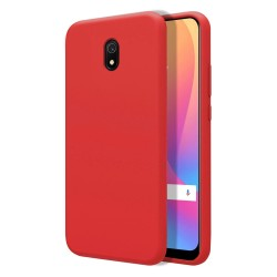 Funda Silicona Líquida Ultra Suave para Xiaomi Redmi 8A color Roja