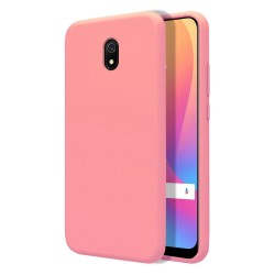 Funda Silicona Líquida Ultra Suave para Xiaomi Redmi 8A color Rosa