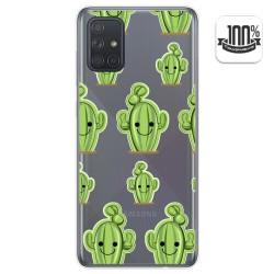 Funda Gel Transparente para Samsung Galaxy A71 diseño Cactus Dibujos