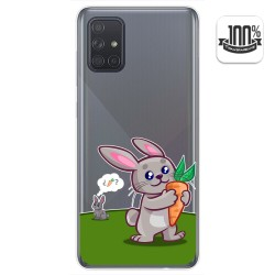 Funda Gel Transparente para Samsung Galaxy A71 diseño Conejo Dibujos