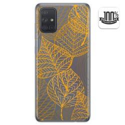 Funda Gel Transparente para Samsung Galaxy A71 diseño Hojas Dibujos