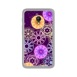 "Funda Gel Tpu para Orange Rise 51 / Alcatel Pixi 4 (5"") 4G / Vodafone Turbo 7 Diseño Radial Dibujos"
