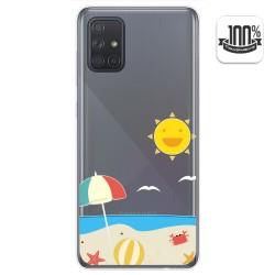 Funda Gel Transparente para Samsung Galaxy A71 diseño Playa Dibujos