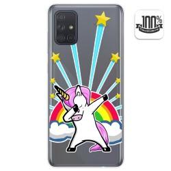 Funda Gel Transparente para Samsung Galaxy A71 diseño Unicornio Dibujos