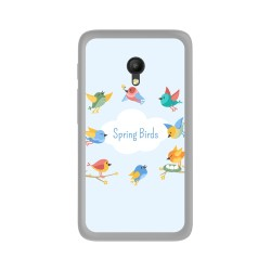 "Funda Gel Tpu para Orange Rise 51 / Alcatel Pixi 4 (5"") 4G / Vodafone Turbo 7 Diseño Spring Birds Dibujos"