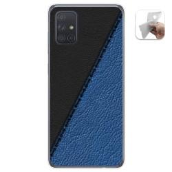 Funda Gel Tpu para Samsung Galaxy A71 diseño Cuero 02 Dibujos