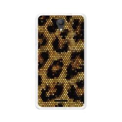 "Funda Gel Tpu para Alcatel Pixi 4 (5"") 3G Diseño Leopardo Dibujos"
