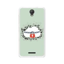 "Funda Gel Tpu para Alcatel Pixi 4 (5"") 3G Diseño Nube Dibujos"