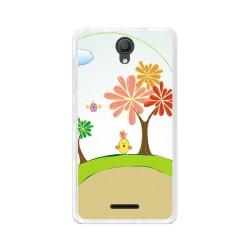 "Funda Gel Tpu para Alcatel Pixi 4 (5"") 3G Diseño Primavera Dibujos"