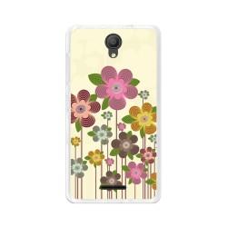 "Funda Gel Tpu para Alcatel Pixi 4 (5"") 3G Diseño Primavera En Flor Dibujos"