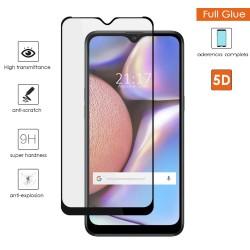 Protector Cristal Templado Completo 5D Full Glue Negro para Samsung Galaxy A10s Vidrio