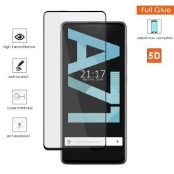 Protector Cristal Templado Completo 5D Full Glue Negro para Samsung Galaxy A71 Vidrio