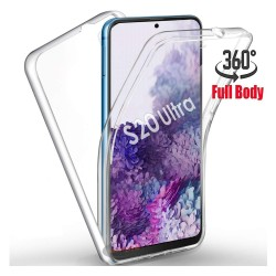 Funda Completa Transparente Pc + Tpu Full Body 360 para Samsung Galaxy S20 Ultra