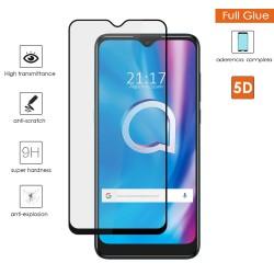 Protector Cristal Templado Completo 5D Full Glue Negro para Alcatel 1s 2020 Vidrio