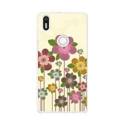 Funda Gel Tpu para Bq Aquaris X5 Plus Diseño Primavera En Flor Dibujos