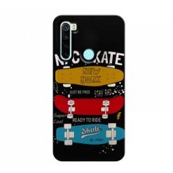 Funda Gel 2 Piezas con Impresión en Relieve Skate para Xiaomi Redmi Note 8T