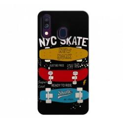 Funda Gel 2 Piezas con Impresión en Relieve Skate para Samsung Galaxy A40