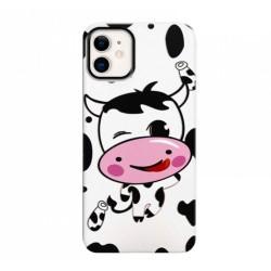 Funda Gel 2 Piezas con Impresión en Relieve Vaca para Iphone 11 (6.1)