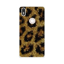 Funda Gel Tpu para Bq Aquaris X5 Plus Diseño Leopardo Dibujos