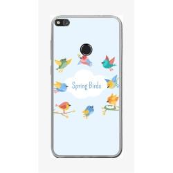 Funda Gel Tpu para Huawei P8 Lite 2017 Diseño Spring Birds Dibujos