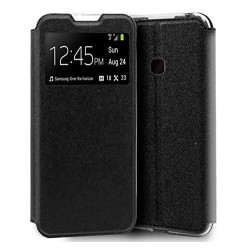Funda Libro Soporte con Ventana para Huawei P30 Lite Color Negra