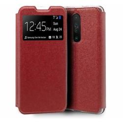 Funda Libro Soporte con Ventana para Xiaomi Pocophone POCO X2 Color Roja
