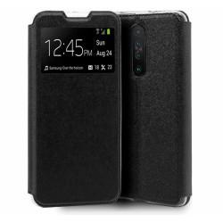 Funda Libro Soporte con Ventana para Xiaomi Pocophone POCO X2 Color Negra