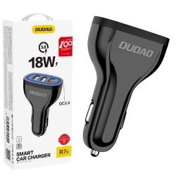 Cargador de Coche Negro 3x USB 2,4A Función Quick Charge 3.0 DUDAO