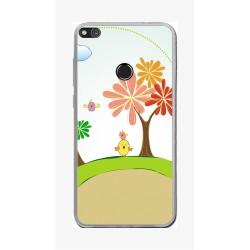 Funda Gel Tpu para Huawei P8 Lite 2017 Diseño Primavera Dibujos