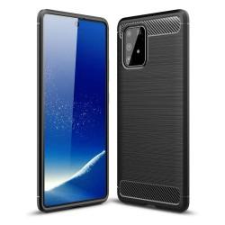 Funda Gel Tpu Tipo Carbon Negra para Samsung Galaxy S10 Lite