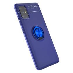 Funda Magnetica Soporte con Anillo Giratorio 360 para Samsung Galaxy A51 Azul