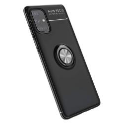 Funda Magnetica Soporte con Anillo Giratorio 360 para Samsung Galaxy A71 Negra
